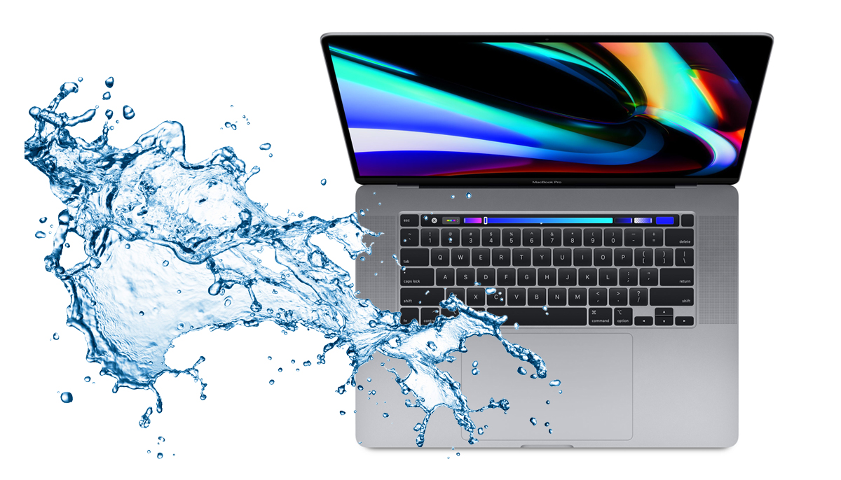 Min MacBook har fået væske